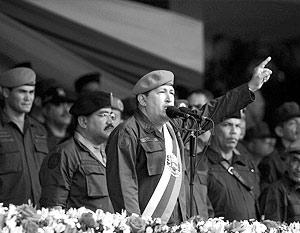Венесуэлы Уго Чавес, регулярно критикующий внешнюю политику Соединенных Штатов