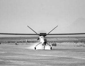 Учебная стрельба проходила с помощью беспилотного летательного аппарата Hermes 450