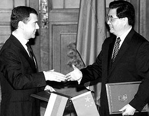 Дмитрий Медведев пригласил Ху Цзиньтао посетить Россию в 2009 году