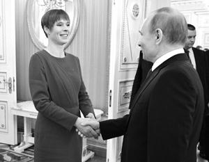 Встреча Керсти Кальюлайд с Владимиром Путиным в Кремле всполошила всю Прибалтику