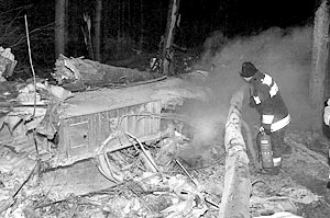 На месте падения самолета Ан-24