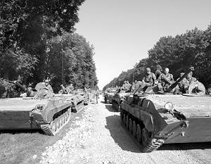 Российские войска вступили на территорию Южной Осетии 8 августа