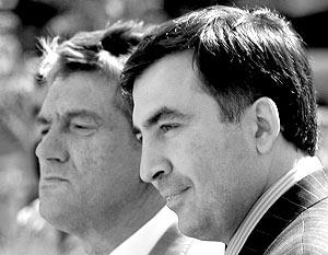 Президент Украины Виктор Ющенко и президент Грузии Михаил Саакашвили