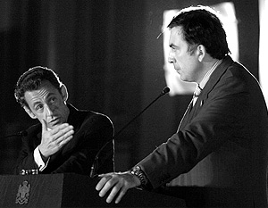 Николя Саркози заявил, что Михаил Саакашвили принял условия прекращения огня
