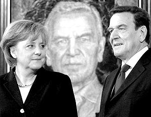 Ангела Меркель и Герхард Шредер