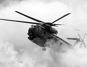 Скорее всего, вертолеты от огня, который велся с земли, не пострадали