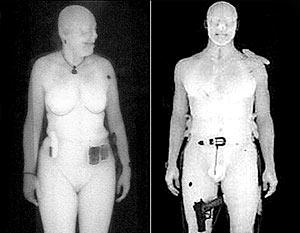 Устройство использует низкую энергию рентгена и способно показать все, что находится под одеждой, включая интимные части тела
