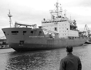 «Академик Федоров» вышел из порта Петербурга и взял курс на южные моря