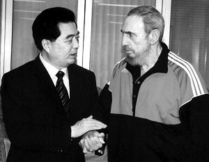 Во вторник в Гаване генсек КПК Ху Цзиньтао встретился с лидером кубинской революции Фиделем Кастро