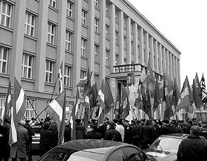 Акция русинов в Закарпатье