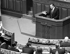 Янукович предупредил Раду о возможности «взрыва», то есть серии акций протеста в связи с ситуацией с газом