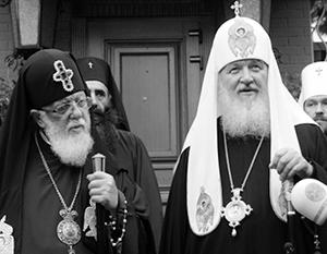 Патриархи Илия (слева) и Кирилл продолжали дружить даже после российско-грузинского конфликта 2008 года