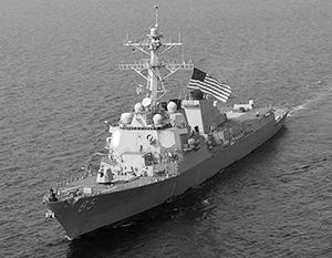 Американский эсминец «Маккэмпбелл» бросил вызов всему Тихоокеанскому флоту