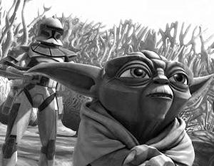 Кадр из нового мультфильма по мотивам «Звездных войн»