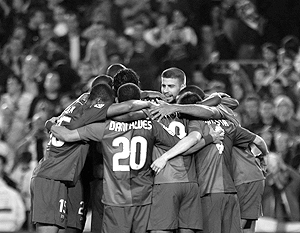 Каталонская команда празднует успех