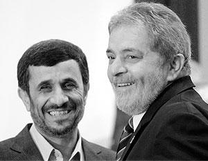 Президент Ирана Махмуд Ахмадинежад и его бразильский коллега Инасио Лула да Силва легко нашли общий язык