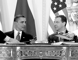 Главный шаг на пути ядерного сокращения несколькими днями ранее сделали Дмитрий Медведев и Барак Обама