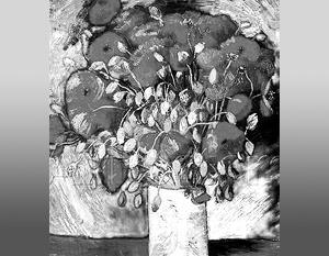 Картина «Маки», или «Ваза с цветами», была выставлена в частном музее Махмуда Халиля