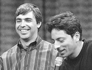 Совладельцы Google Ларри Пейдж и Сергей Брин