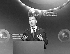 Дмитрий Медведев произнес в Ярославле очень сжатую и эмоциональную речь