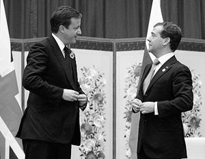 Дмитрий Медведев позвал Дэвида Кэмерона в Москву