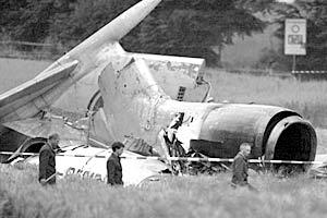 На месте крушения Ту-154