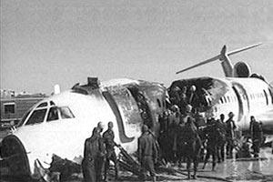 Самолет Ту-154 авиакомпании Iran Airtour загорелся сегодня при посадке в аэропорту города Мешхед