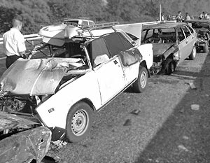 Несколько десятков машин столкнулись в Краснодарском крае
