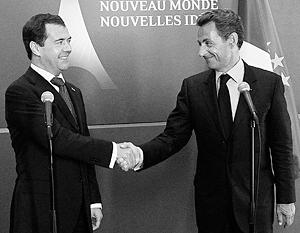 Николя Саркози признал, что Дмитрий Медведев сдержал свое слово по мирному плану в Грузии