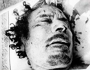 Журналистам продемонстрировали тело Каддафи, погибшего от «шальной» пули
