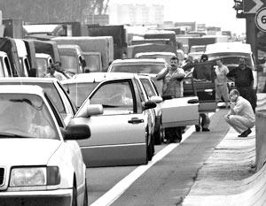 Пропускная система улиц превышена уже в 10 раз