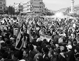 В Сирии на улицы выходят не только противники Башара Асада, но и его многочисленные сторонники