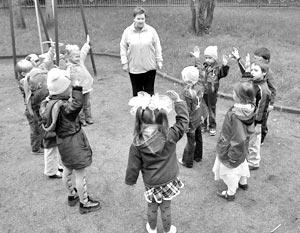 Удетей, посещающих детский сад проблемы с психикой возникают в два раза чаще