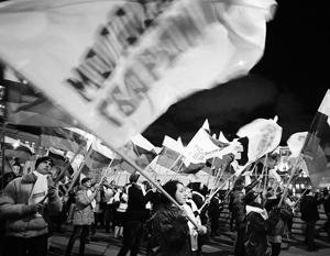 Власть вывела на улицу в разы больше сторонников, чем оппозиция
