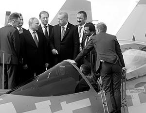 «Это Су-57? А он уже летает?» – интересовался Эрдоган на МАКС-2019