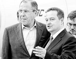 Сергей Лавров на встрече с сербским коллегой Ивицей Дачичем отметил: события в Македонии развиваются на фоне отказа руководства этой страны поддержать санкции против России