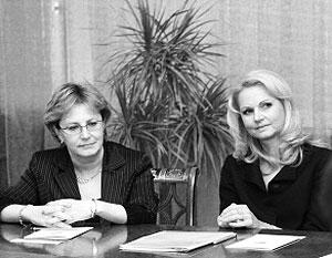 Академик РАМН Вероника Скворцова (слева) сменила Татьяну Голикову на посту министра здравоохранения