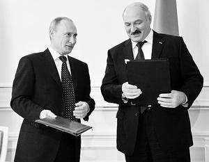 Лукашенко рассыпался в благодарностях Путину за визит