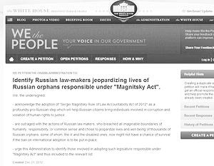 Необходимое число подписей под антидумской петицией на сайте Белого дома набралось за три дня, но голоса поддержавших ее россиян и ботов будут вычеркнуты