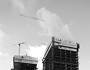 На строящихся объектах «Москва-Сити» довольно часто происходят возгорания