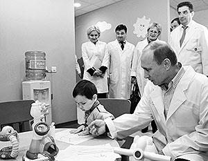 Владимир Путин посетил консультативно-диагностический центр группы компаний «Мать и дитя»