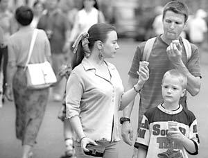 В России падает популярность мороженого