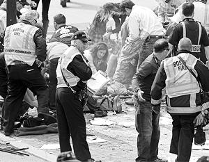 В результате теракта на марафоне в Бостоне пострадали полторы сотни человек