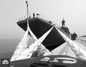 1 мая. Российский десантный корабль «Азов» пришвартован на пристани израильского города Хайфа