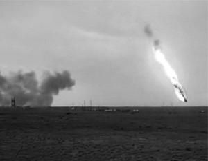 Ракета упала на первой минуте полета
