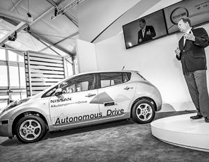 Тестовая модель Nissan с автопилотом