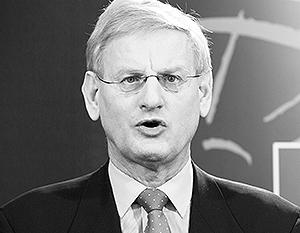 Министр иностранных дел Швеции Карл Бильдт пытается завлечь Украину в ЕС всеми правдами и неправдами