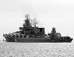 Гвардейский ракетный крейсер «Москва» с недавних пор возглавляет Средиземноморскую эскадру