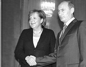 Переговоры Владимира Путина с Ангелой Меркель