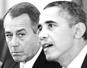 Вежливый разговор республиканца Джона Бейнера и Барака Обамы ни к чему не привел